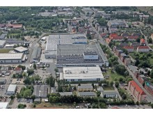 Aerial shot of the Johnson Controls battery plant in Zwickau