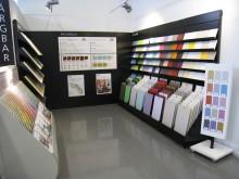 Kulörvalsavdelning i Happy Homes-butik