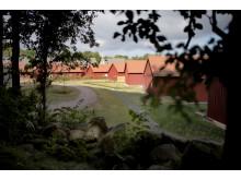 Derome Mark & Bostads röda hus i kvarteret Seglarängen, Kullavik.