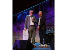"""Lars Lerin och Manoel """"Junior"""" Marques Lerin mottar pris på Störd och stolt galan"""