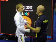 Åsa Linde och coach Mattias Edlund