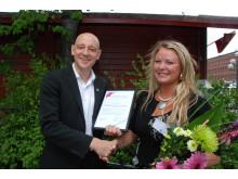 Ida Backlund, Årets Unga Entreprenör i norra Sverige i Founders Awards