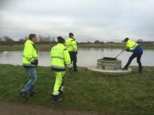 NSVA Kontroll av vattenflöde dagvattendamm Rydebäck