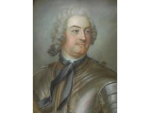 Gustaf Lundberg, porträtt av Greve Adam Horn af Ekebyholm, 1700-talets mitt.