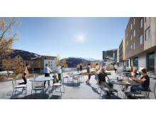 Nytt konferansehotell på Voss - fra terrassen