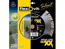 Ny støjsvag diamantklinge fra Flexovit - Emballage