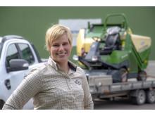 Nina Wisell, grönytesäljare i Mellansverige.