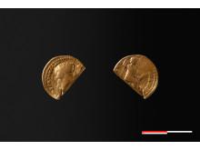 Kejser Tiberius guldmønt foto Moesgaard Museum