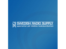 Swedish Radio Supply logo mot blå bakgrund