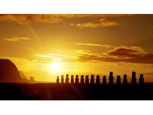 Moai-statuer på Påskeøya