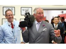 Książę Walii w Ośrodku Technologicznym Sony UK (UKTEC)
