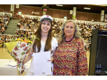 Årets student blev Marlene Roed Nielsen, der fik overrakt Houmedeprisen.