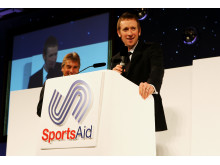 SportsAid alumnus Sir Bradley Wiggins at the SportsBall in 2008