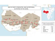 Läkare Utan Gränsers insatser i Sahelregionen