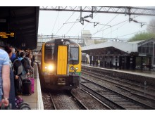 A London Midland Class 350 train at Northampton