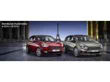 Ford viser nye S-MAX og nye C-MAX på bilutstillingen i Paris