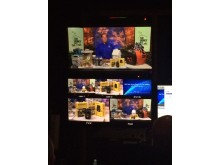 View of The Money Pit's Tom Kraeutler & The Smart Measure Pro From the Studio Control Room
