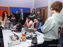 Finance Minister Jane Hutt AM attends digital inclusion class in Caerphilly (Pictire: Van Cam Camera Club)