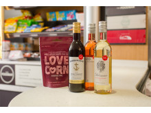New products available in Virgin Trains' refreshed Foodbar on its east coast route include Love Corn and Virgin Wines