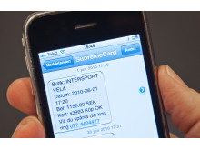 SMS-kvitto på kortköp i mobilen