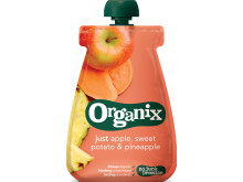 Organix just apple, sweet potato & pineapple