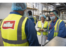 Employees at Müller's Telford site