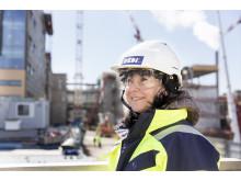– Työmaalla työskentelee tällä hetkellä yhteensä noin 900 työntekijää, kertoo SRV:n tiedottaja Heli Pulkkinen.