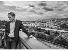 Dan Brown HO_Firenze svart hvitt _Fotograf: Claudio Sforza