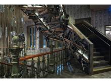 Stora Hotellets trappa och ljuskrona