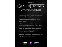 Game of Thrones - Budord mot spoilers
