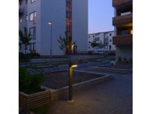 Bild 1. Fox Design Belysning har levererat utebelysning till kv. Långskeppet i Norra Ängby utanför Stockholm.