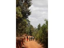 Gabriella Rubin under projektet Made in Kenya