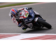 Superbike ace Alastair Seeley in action at Silverstone for RAF BMW