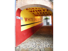 Well recieved: White Ling Whisky advert in Bull Brow