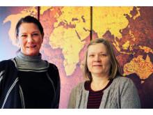 Pia och Sari FRI ANVÄNDNING Foto: Högskolan Kristianstad