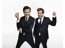 Fredrik Wikingsson och Filip Hammar. FOTO: MATTIAS BARDÅ/KANAL 5