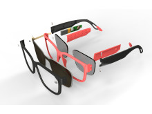 Exploded view of Sunglasses with electronic tint