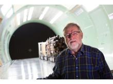 Claes Löfroth, Skogforsk, vid vindtunnelstudier av lastbilar