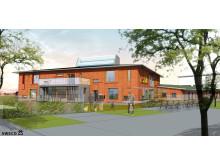 Sweco har utformat Hedlunda förskola – världens nordligaste passivhus