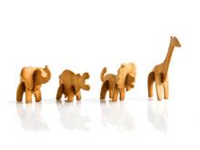 3D pepparkakor alla djur byggda