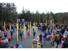 Åpning av Knutahaugen aktivitetspark Fet