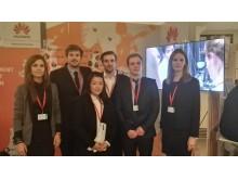 Fem af de danske studerende fra 2015