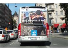 Flygbussarna hjälper människor på flykt genom UNHCR