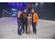 Münsteraner Nachwuchsdesigner Jessie Wistorf und Carlo Kondring mit HOLIDAY ON ICE Skatern bei den finalen Proben in Antwerpen