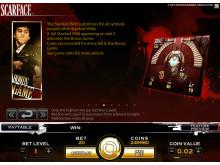 Scarface video slot at Vera&John Casino