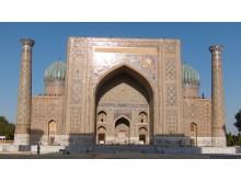 One side of Registan Square in Samarkand, Uzbekistan (photo by schan)