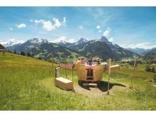 Fondue Caquelon auf Schlittmoos Gstaad
