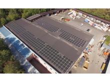 I september installerades solceller på taket till anläggningen i Bandhagen. Solcellsanläggningen beräknas producera en dryg tredjedel av den totala energiförbrukningen