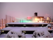 Clarion Hotel Sign - Selma City Spa - Pool - Winter