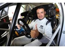 Bryan Bouffier testar för Hyundai